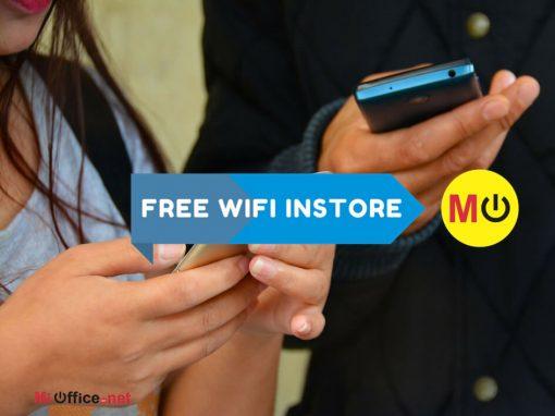Free WIFI in-store